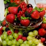Arranjo frutas natalinas