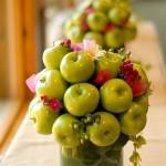 Arranjo maçã verde