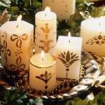 Arranjo velas decoradas