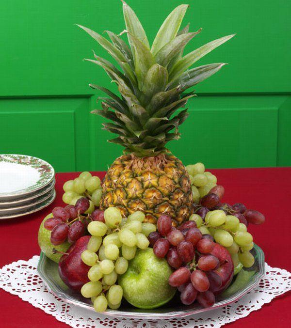 Arranjos para mesa de natal DicasFree com -> Decoração Mesa De Frutas Natal Simples