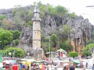 Vista externa do santuário de Bom Jesus da Lapa.