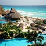 Cancun praia turística
