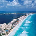 Cancun praias com água cristalina