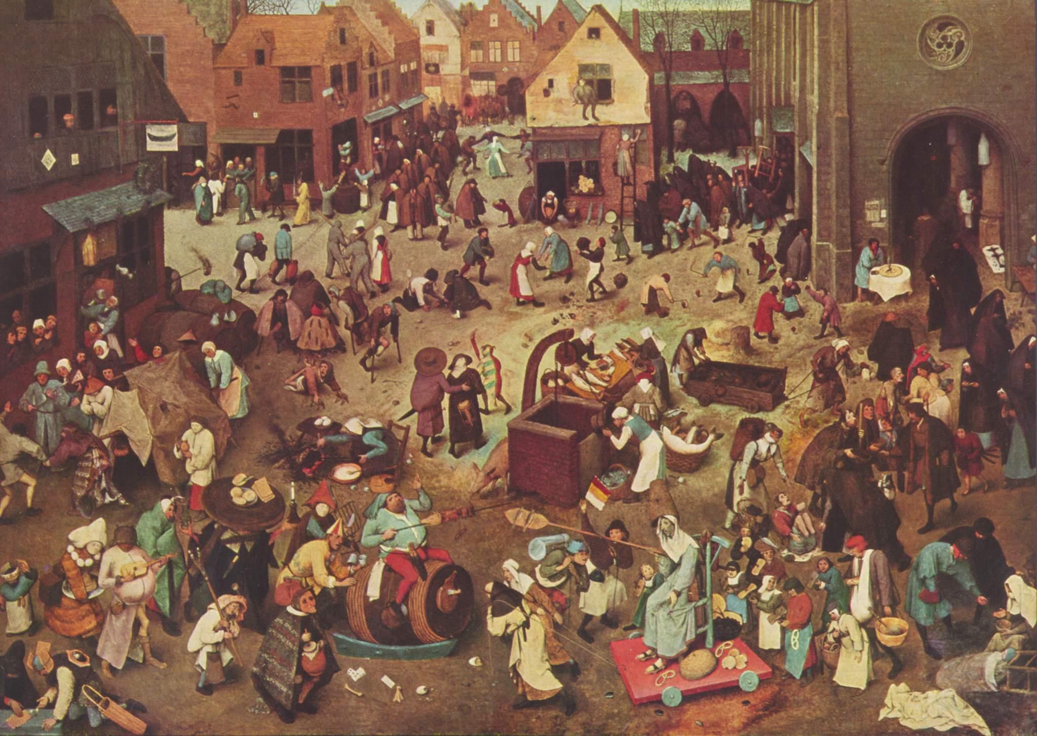 Festa carnavalesca durante a idade média.