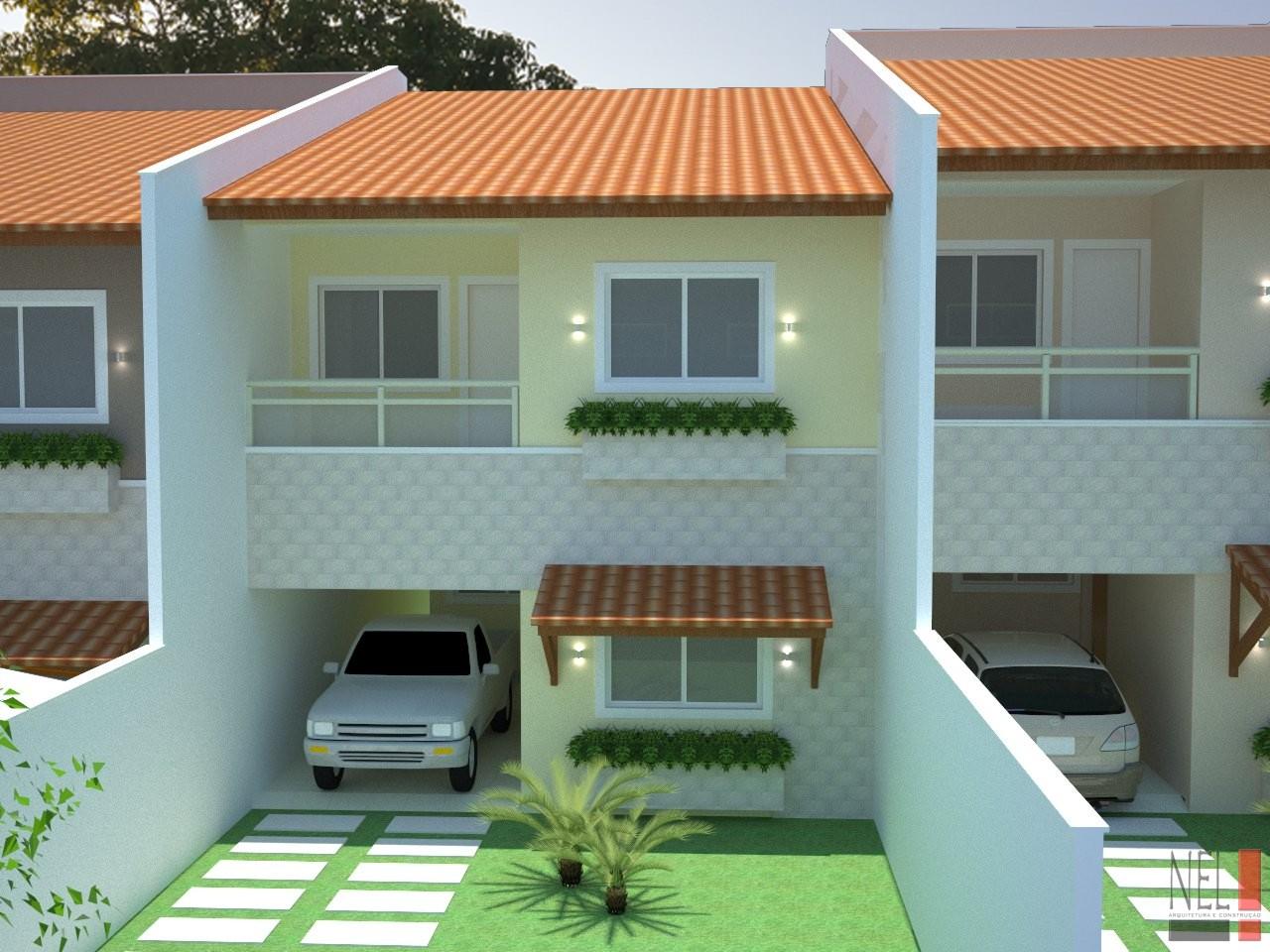 Modelo casa popular geminada for Modelo de casa x dentro