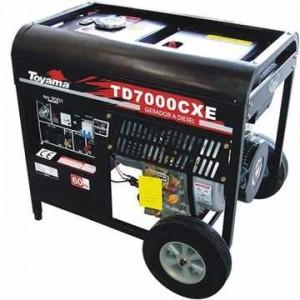 Gerador de Energia Diesel 6000 Watts Toyama TD7000CXE Elétrica