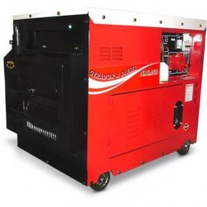 Gerador de Energia a Diesel Nagano Trifásico 110220v Partida Elétrica Silenciado ND7000ES3