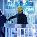 Ice Hotel Drinks servidos em copos de gelo