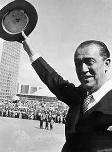 O presidente responsável pela fundação da capital.