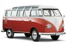 Kombi - um dos mais antigos automóveis no Brasil.