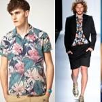 Moda masculina 2013 camisas estampadas