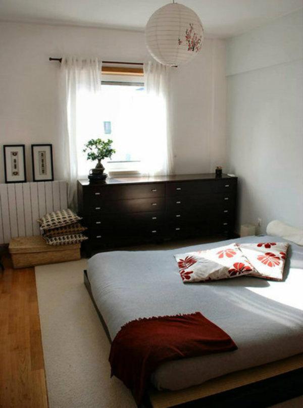 Ideia de um quarto zen.