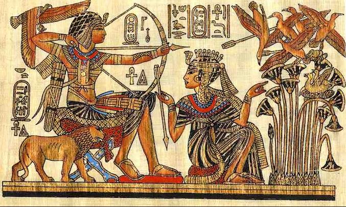 A forma de expressão dos antigos egípcios