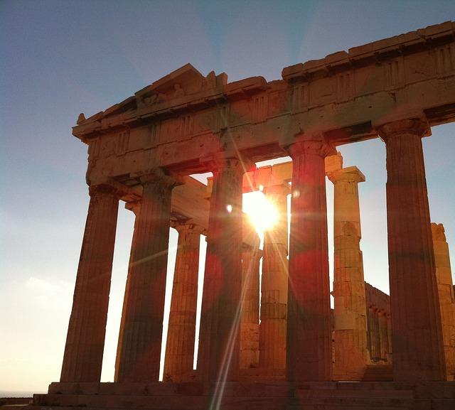 Templo grego em Atenas