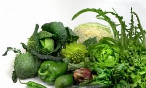 Verduras verdes escuras