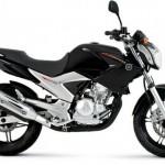 Yamaha Fazer 250 na cor preta