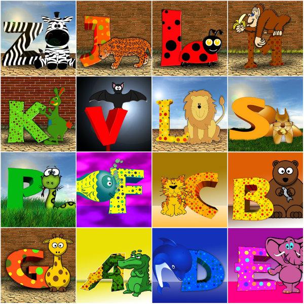 O alfabeto colorido ajuda no aprendizado das crianças.