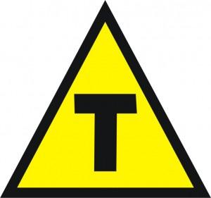 Os alimentos transgênicos industriais carregam esse símbolo.