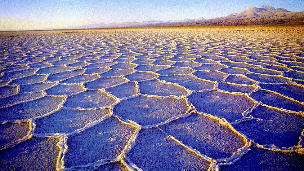 Lago de Sal no Atacama