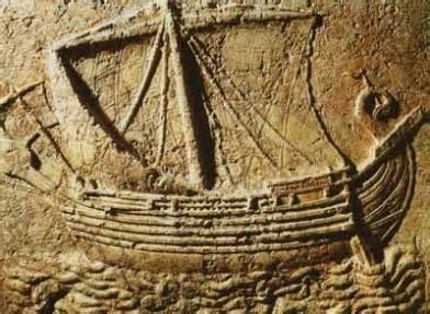 Gravura de Barco Fenício