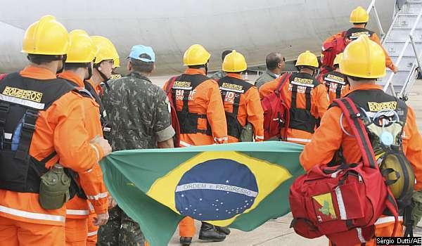 Equipe brasileira em apoio ao desastre no Haiti