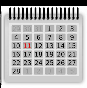 O calendário é um aliado na busca pela compreensão do ciclo.