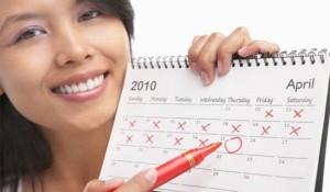 marcando o dia da menstruação