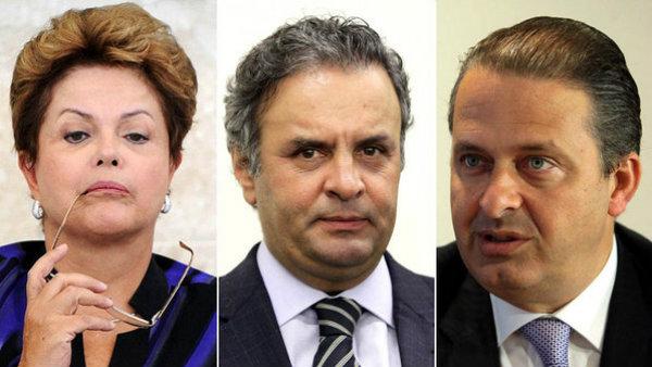 Principais candidatos a Presidência da República.