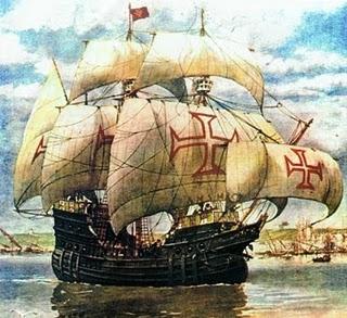 As caravelas eram as formas de chegada das embarcações portuguesas ao Brasil