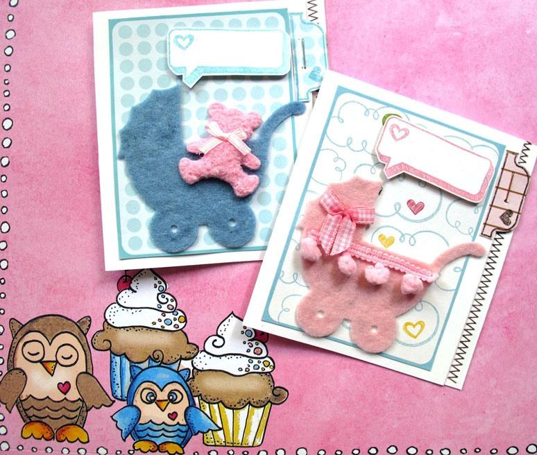 Modelos de cartão para recém nascidos.