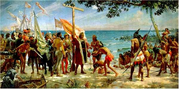 Chegada de Colombo ao Novo Mundo