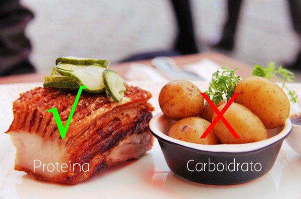 Proteínas são mais recomendadas do que carboidratos quando se trata de perder barriga.