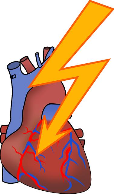 Imagem ilustrativa de um coração afetado por infarto.