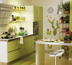 Cozinha verde (Foto: Reprodução)