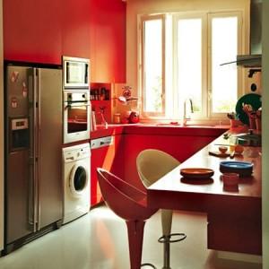 Cozinha vermelha (Foto: Reprodução)