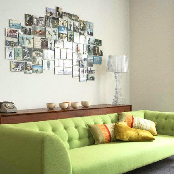 Decoração com fotografias. Créditos da imagem: http://www.mundoagora.com