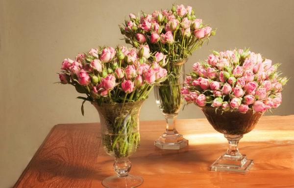 Flores cor de rosa.