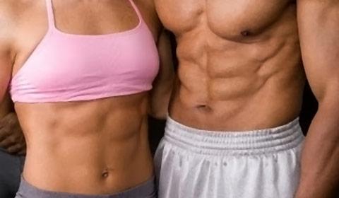 A definição muscular requer exercícios intensos.