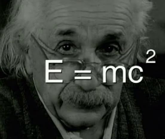 Fórmula da teoria da relatividade