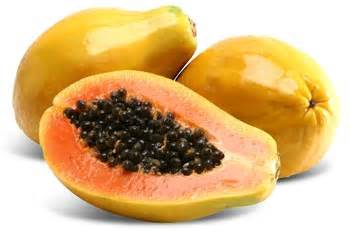 O mamão papaia contém muitas fibras