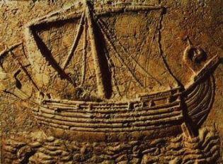 Gravura de embarcação fenícia