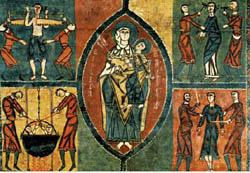 A arte românica sempre evidenciou a religião da Europa no século XI e XIII