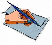 Forma em desenho de ilustrar um informe a ser escrito.