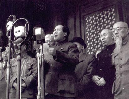 Proclamação da República Popular da China por Mao Tse Tung