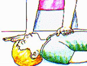 A massagem respiratória é importante para manter o paciente vivo