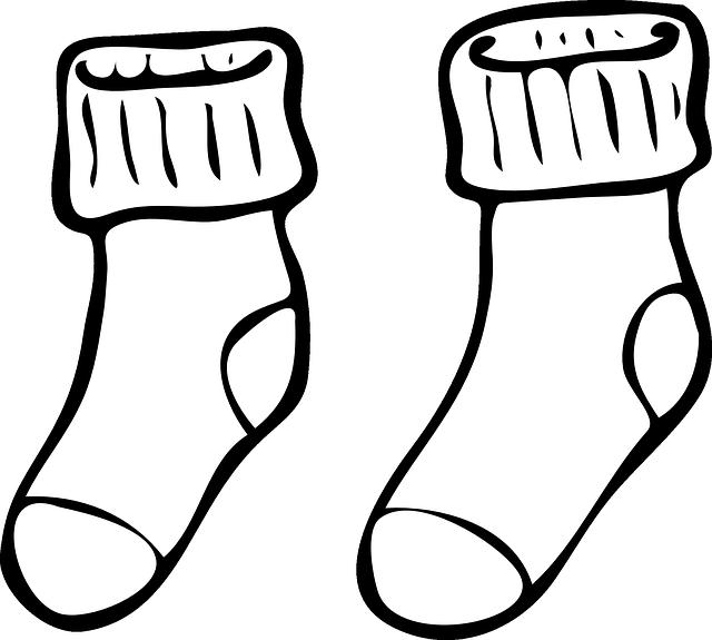 meias de natal para colorir