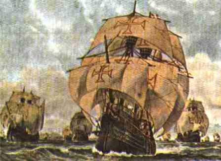 Retrato de naus portuguesas (foto: reprodução)