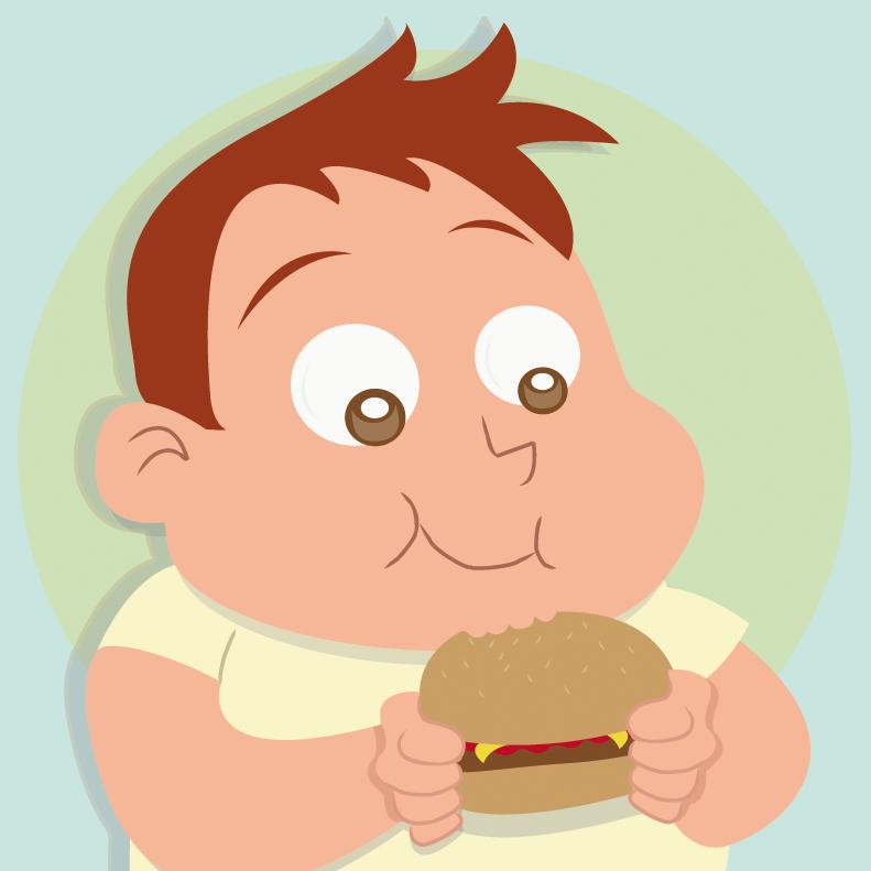 Imagem ilustrativa sobre crianças que estão propensas a obesidade ou obesas.