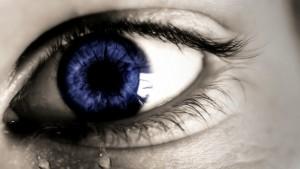 Olhos com lágrimas