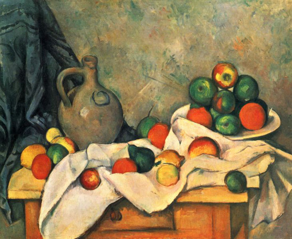Reprodução de frutas em pintura morta